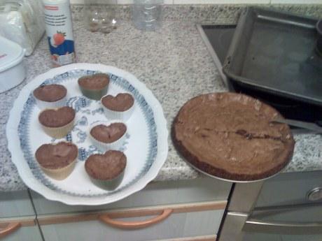 Brownies y tarta